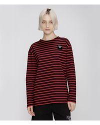 Christopher Kane More Joy Breton Stripe Long Sleeve T Shirt - Black