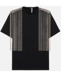 Christopher Kane Chain Detail T-shirt - Black