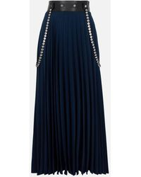 Christopher Kane Crystal Pleated Skirt - Blue
