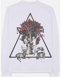 Christopher Kane Naturotica Long Sleeve T-shirt - White