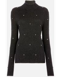 Christopher Kane Roll Neck Cable Sweater - Black