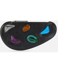 Christopher Kane Curve Leather And Gel Bag - Black