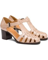 Church's Kelsey Patent Leather Sandals - Pink