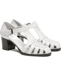 Church's Shine Calf Leather Mid Heel Sandal - White