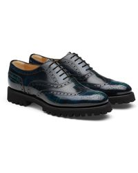 Church's Polished Fumè Oxford Tartan - Blue