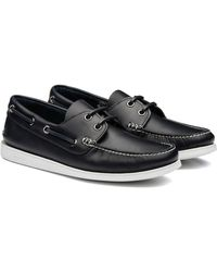 Church's Marske Leather Boat Shoes - Blue