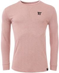 11 Degrees Long Sleeve Knit Top In Rose - Pink