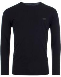 BOSS by Hugo Boss Bodywear Mix & Match Long Sleeved Top - Black