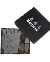 Barbour - Scarf & Gloves Gift Box - Lyst
