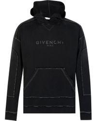 Givenchy - Logo Hooded Sweatshirt - Lyst