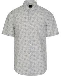 cf0df8a7a BOSS Hugo Short Sleeve Shirt Puno 03 50328741 Men's Short Sleeved Shirt In  White in White for Men - Lyst