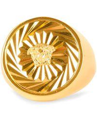 Versace - Medusa Logo Ring - Lyst