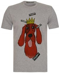 a57489a4 Dolce & Gabbana Number 11 Print T-shirt in Green for Men - Lyst