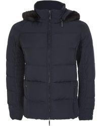 Armani - Jeans Women's Hooded Down Jacket Navy - Lyst