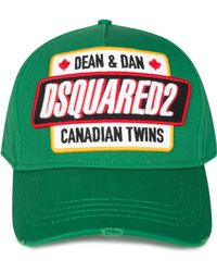 0229ea1c2 DSquared² Red Canadian Twins Baseball Cap in Red for Men - Lyst