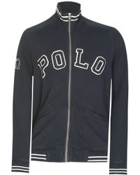 Ralph Lauren - Polo Appliqu Zip Sweatshirt Black - Lyst