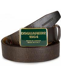 DSquared² - Slim Logo Belt - Lyst