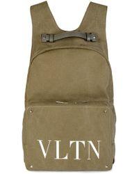 Valentino - 'vltn' Logo Backpack Khaki - Lyst