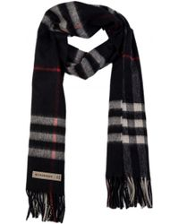 Burberry Giant Icon Check Cashmere Scarf Claret Red in Red - Lyst 94850e1fe394a