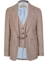 Vivienne Westwood Check Waistcoat Insert - Multicolour
