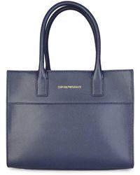 Emporio Armani Womens Top Handle Bag - Blue