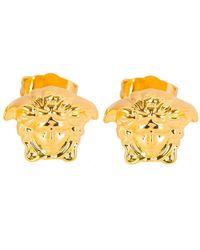 Versace - Mainline Medusa Gold Earings - Lyst