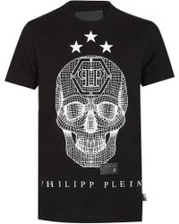 Philipp Plein - 'say Something' Black T-shirt - Lyst
