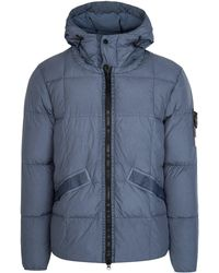 edd607749 Crinkle Reps Quilted Coat - Blue