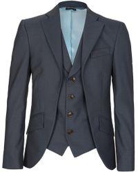 Vivienne Westwood - Blue Waistcoat Insert Blazer - Lyst