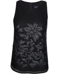 Armani - Jeans Womens Mesh Top Black - Lyst
