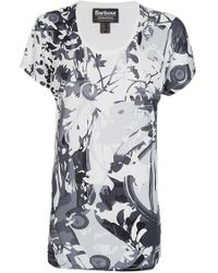 Barbour - Hairpin Flower Tee - Lyst