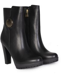 Emporio Armani - Winter Leather Ankle Boots - Lyst