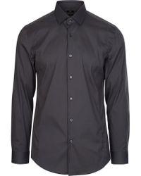 BOSS - Hugo Slim Fit Poplin Shirt - Lyst