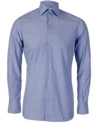 J.Lindeberg J.linderberg Men's Daniele Vintage Dot Shirt - Blue