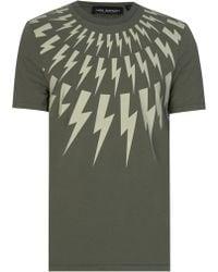 Neil Barrett - Thunderbolt T-shirt - Lyst