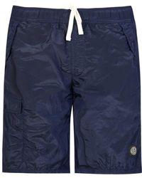 Stone Island - Nylon Long Swimming Shorts - Lyst