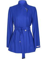 Ted Baker Womens Drytaa Wrap Coat - Blue