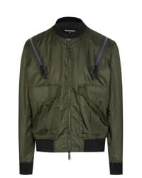 c1a4dfb6f Zip Shoulder Bomber Jacket - Green