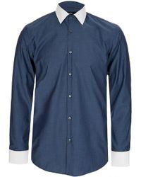 BOSS - Hugo 'jonnes' Contrast Collar Shirt - Lyst