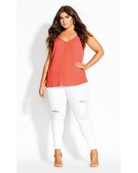 City Chic - Tropic Button Cami - Lyst