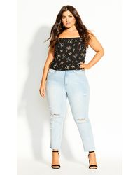 City Chic - Summer Spring Top - Lyst