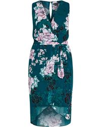 City Chic - Jade Floral Dress - Lyst