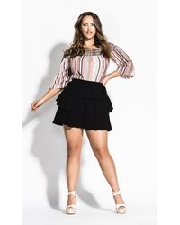 City Chic Salsa With Me Short - Black