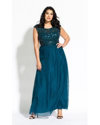 City Chic Sweet Love Maxi Dress - Green