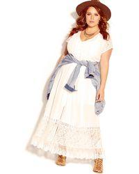 City Chic - City Of Angels Maxi Dress - Lyst