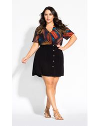 City Chic - Button Down Skirt - Lyst
