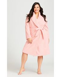 City Chic Pink Robe