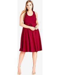 City Chic - Cherry Cute Midi Dress - Lyst