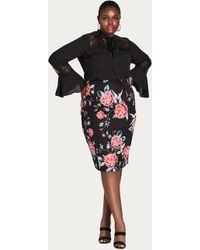 City Chic - Romaji Floral Skirt - Lyst