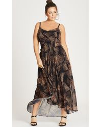 City Chic - Party Time Maxi Dress - Lyst
